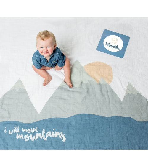 "Meilenstein-Decke mit Karten - ""I will move Mountains"" - 8-teilig"