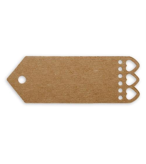 Kleine Geschenkanhänger mit Herzen - Kraftpapier - 10 Stück