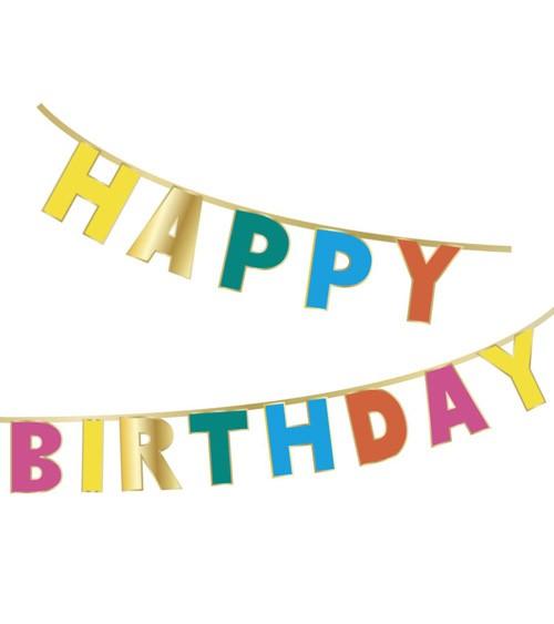 """Happy Birthday-Girlande """"Birthday Brights"""" - 3 m"""