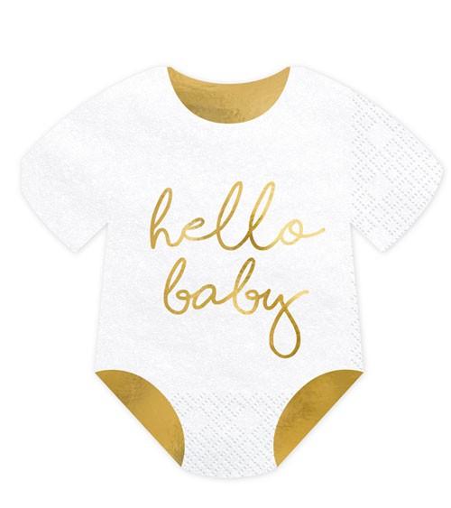 """Babybody-Servietten """"Hello Baby"""" - 20 Stück"""