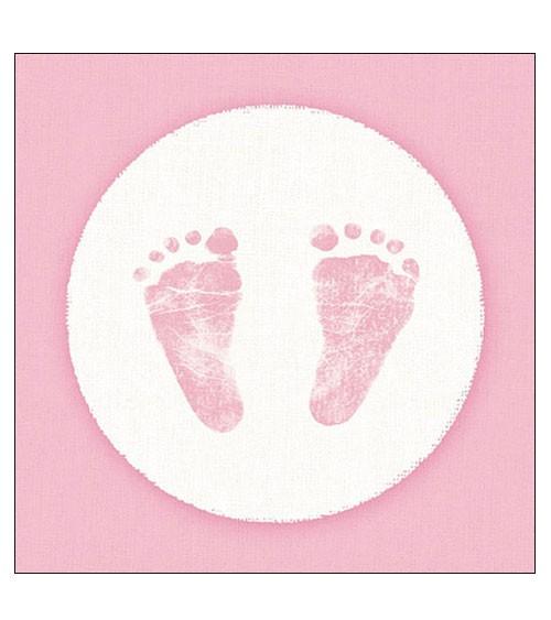 """Servietten """"Baby Steps Girl"""" - 20 Stück"""
