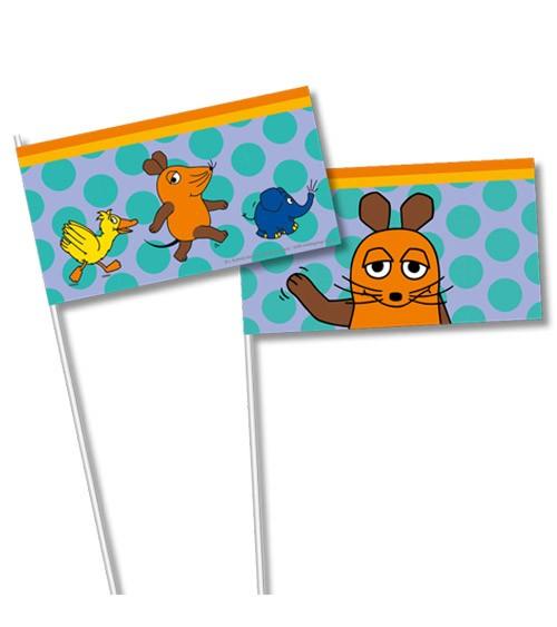 "Papier-Flaggen ""Die Maus"" - 8 Stück"