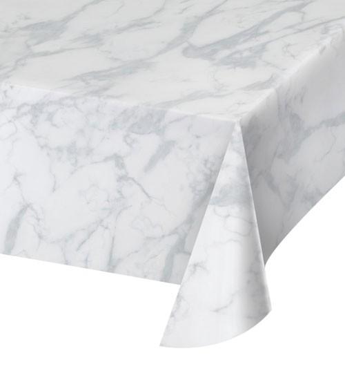 Kunststoff-Tischdecke - marmoriert - 137 x 274 cm
