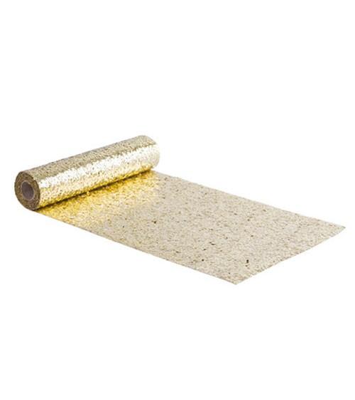 Glitter-Tischläufer - gold - 28 cm x 3 m