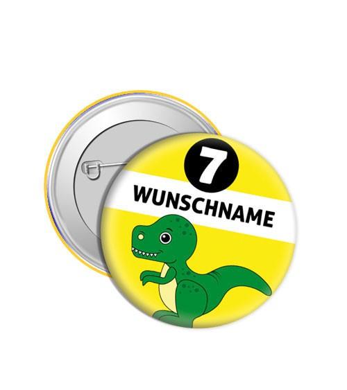 "Dein Button ""Dino"" - Wunschtext"