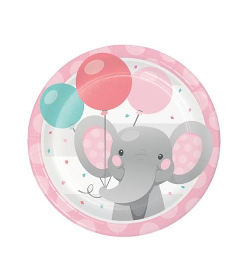 """Kleine Pappteller """"Little Elephant - Girl"""" - 8 Stück"""