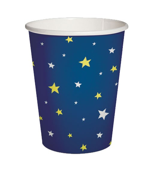 "Pappbecher ""Starlit Sky"" - dunkelblau - 10 Stück"