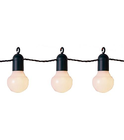 "LED-Party-Girlande ""Bulb"" - weiß/dunkelgrün - 5,7 m"