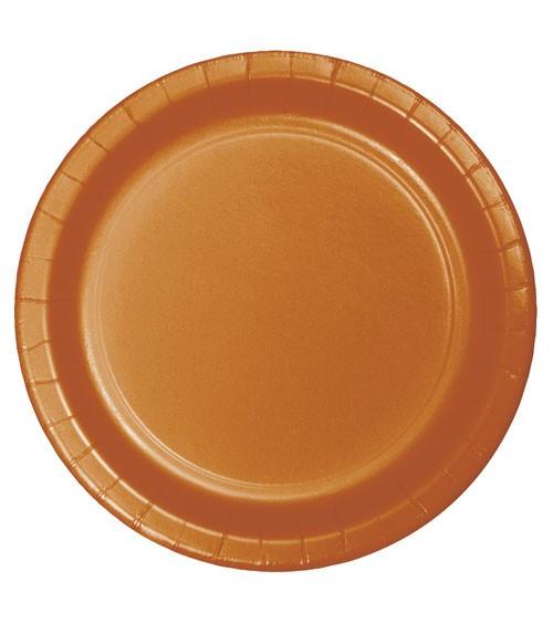 Pappteller - pumpkin - 24 Stück