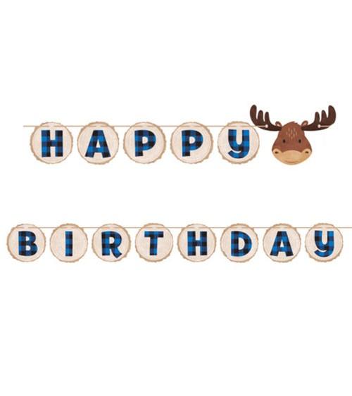 """Happy Birthday-Girlande """"Kleiner Elch"""" - 2,9 m"""