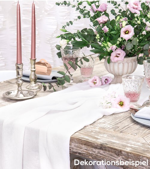 Tischläufer aus Musselin - light cream - 70 cm x 5 m