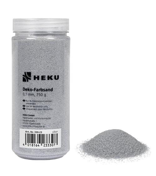 Deko-Farbsand - 750 g - silber