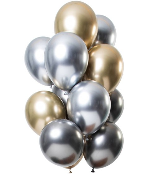 """Luftballon-Set """"Mirror Effekt"""" - Onyx - 12 Stück"""