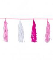"""Tassel-Girlande """"Farbmix Pink"""" - 3 m"""