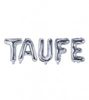 "Folienballon-Set ""Taufe"" - silber"