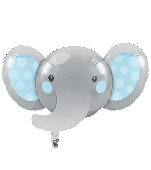 "SuperShape-Folienballon ""Little Elephant - Boy"" - 93 x 62 cm"