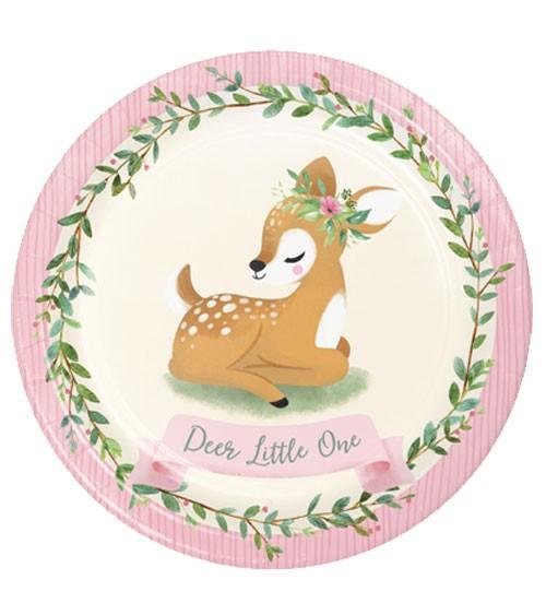 """Pappteller """"Kleines Reh"""" - Deer Little One - 8 Stück"""