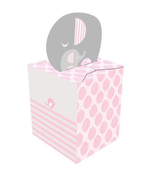 """Geschenkboxen """"Kleiner Elefant - rosa"""" - 8 Stück"""