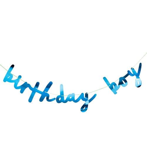 "Schriftzug-Girlande ""Birthday Boy"" - blau - 2m"