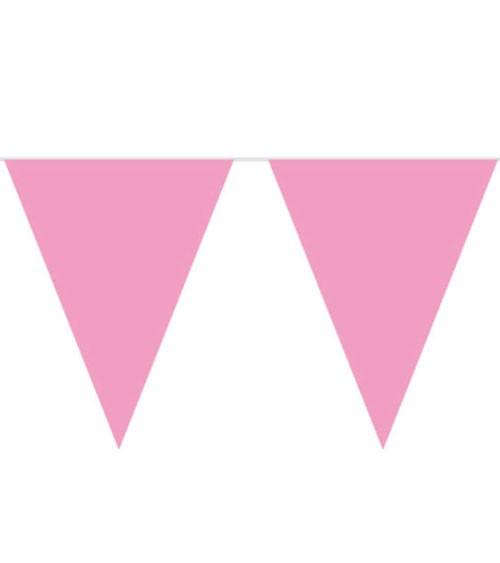 XL-Wimpelgirlande aus Kunststoff - rosa - 10 m