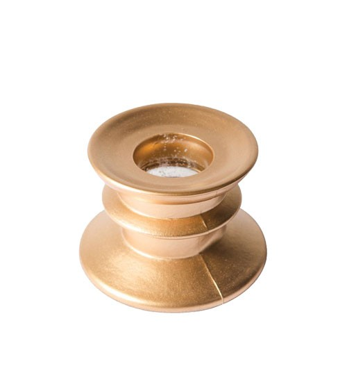 Stabkerzenhalter aus Glas - gold - 4 cm