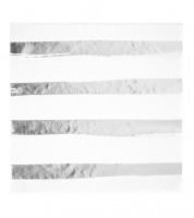 Servietten - weiß/silber - 16 Stück