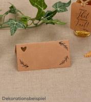 """Platzkarten """"Hearts & Kraft"""" - 25 Stück"""