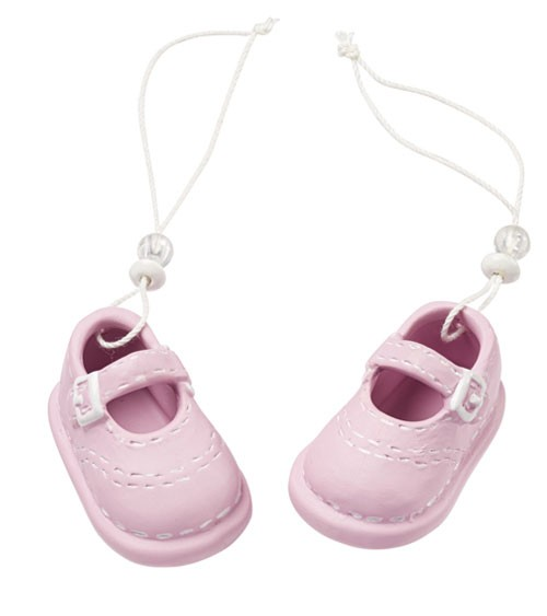 Babyschuhe aus Keramik - rosa - 5,3 cm - 1 Paar
