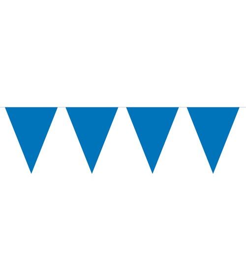 Mini-Wimpelgirlande aus Kunststoff - dunkelblau - 3 m