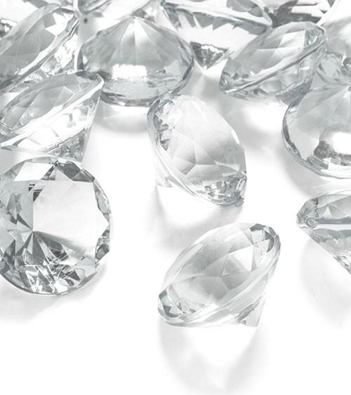 """Streudeko """"Diamant"""" - klar - 3 cm - 5 Stück"""