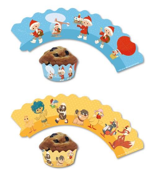 """Cupcake-Wrapper """"Unser Sandmännchen"""" - 12 Stück"""
