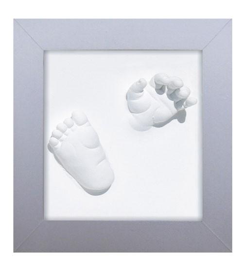 Hand und Fußabdruck-Set - 3D Deluxe - silber