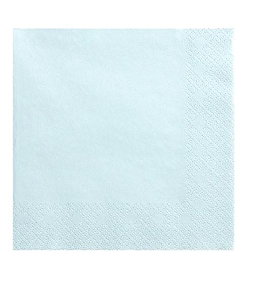 Servietten - sky blue - 20 Stück