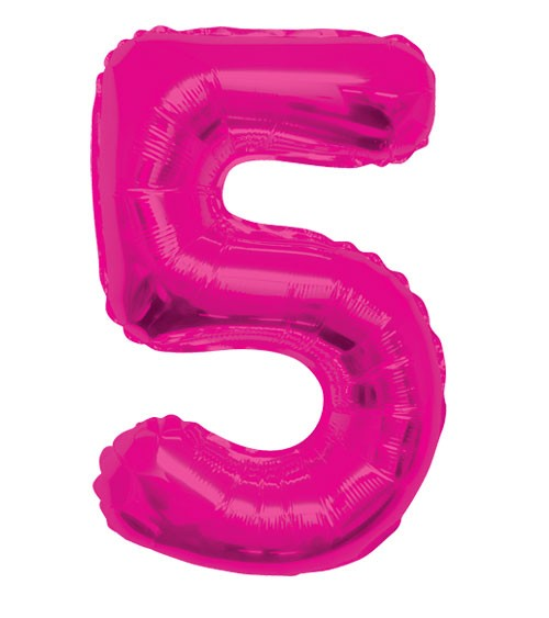 "Supershape-Folienballon ""5"" - pink"