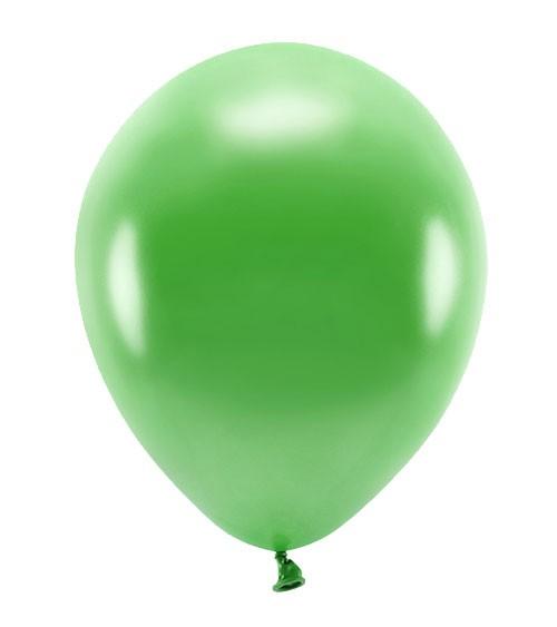 Metallic-Ballons - grasgrün - 30 cm - 10 Stück