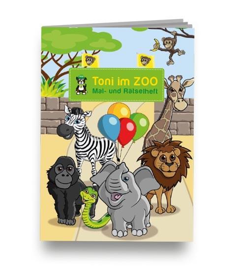 """Kleines Mal- und Rätselheft """"Zoo"""""""