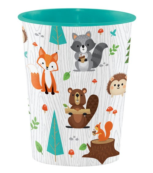 "Plastikbecher ""Wild One Woodland"""