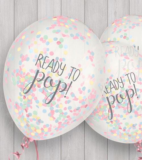 "Konfetti-Ballons ""Ready to pop"" - bunt - 5 Stück"