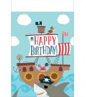 """Kunststoff-Tischdecke """"Ahoy Birthday"""" - 137 x 259 cm"""