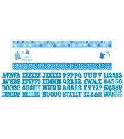 "Personalisierbarer Partybanner ""Shower With Love - Boy"" - 165 x 51 cm"