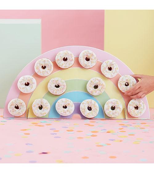 Regenbogen-Donut-Wand - pastell - 64,5 x 32,5 cm