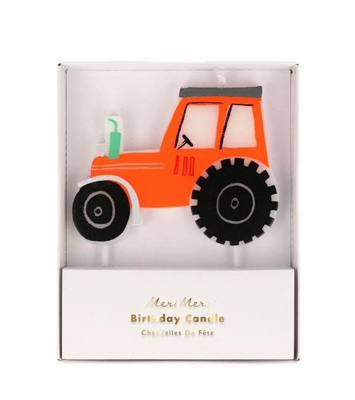 """Kuchenkerze """"Traktor"""" - 9 x 7 cm"""