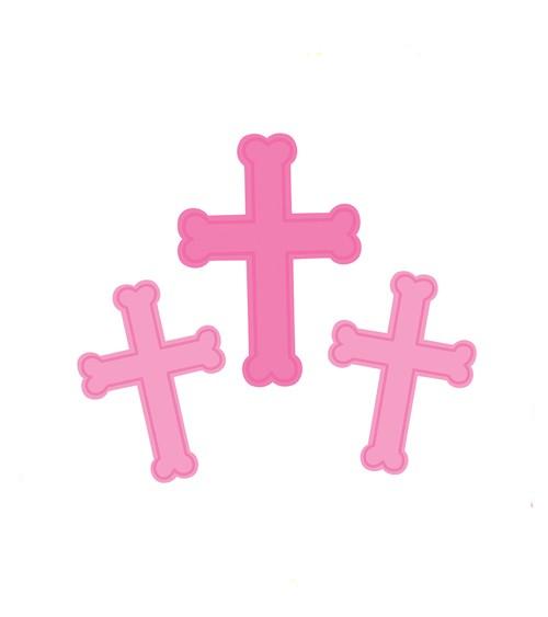 """Cutouts """"Kreuz - pink"""" - 3 Stück"""