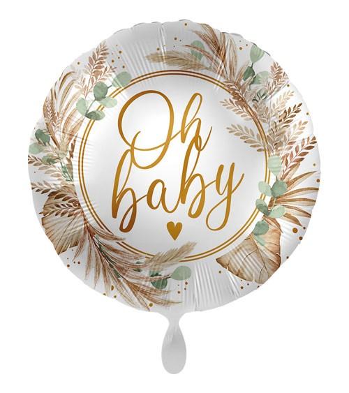"Folienballon ""Botanic Birth"" - Oh Baby"