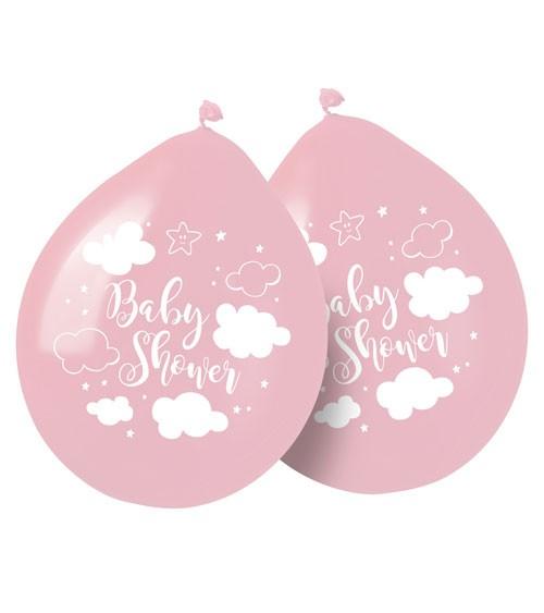 "Luftballons ""Wolken Baby Shower"" - rosa - 8 Stück"