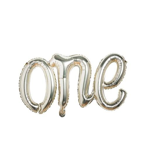 "Script-Folienballon ""One"" - gold - 35 x 60 cm"