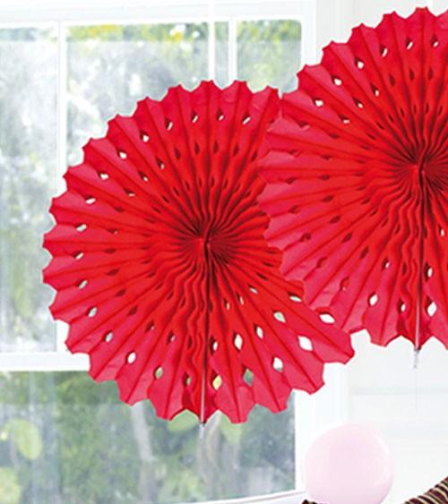 Papier-Deko-Fächer - 45 cm - rot