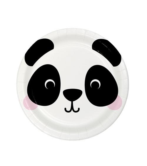"Kleine Pappteller ""Animal Faces"" - Panda - 8 Stück"