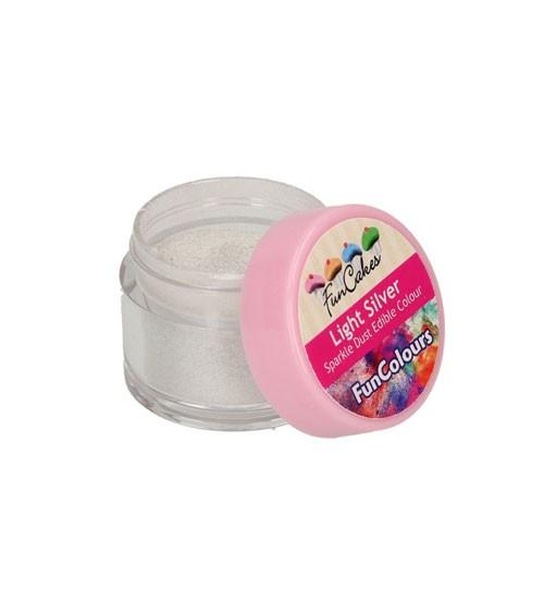 Funcakes Lebensmittelfarbe Pulver - glitter silber - 3 g