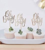 "Cupcake-Topper ""Oh Baby"" - 12 Stück"
